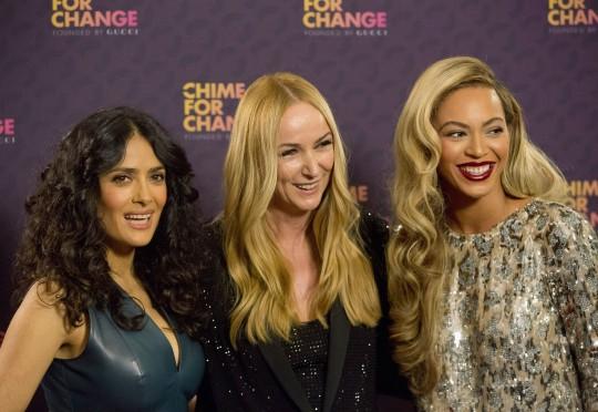 Salma Hayek, Frida Giannini e Beyoncé