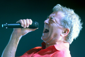 Singer Ian Gillan of British rock band D